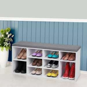 10 Pair Shoe Storage Bench
