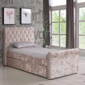 Vaughan Single Upholstered Trundle Bed Frame