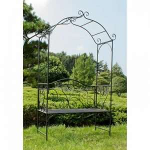 2 Seater Metal Rose Arch Bench