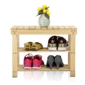 3-Tier Wood Shoe Rack