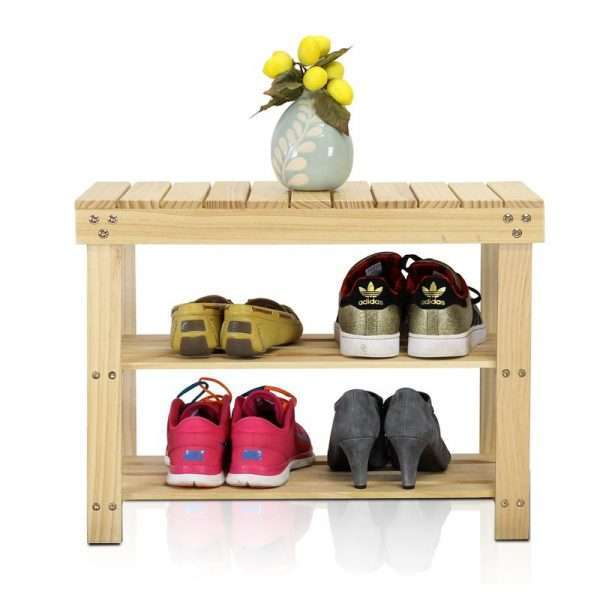 3-Tier Wood Shoe Rack