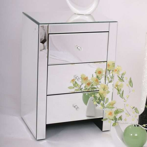 Modern Mirrored Bedside Table