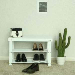 4 Pair Shoe Storage Bench