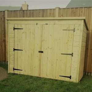 6x3 Wooden Bike Shed