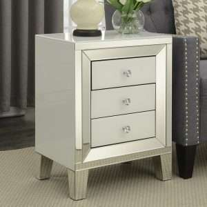 Abalone Mirrored Bedside Table