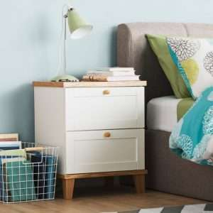 Alissa White Bedside Table