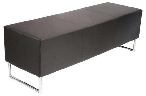 Almandine Faux Leather Bench