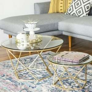 Aman Geometric Coffee Table Set