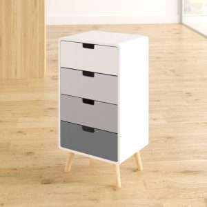Amani 4 Drawer Bedside Table