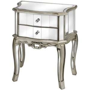 Argente Mirrored Bedside Table