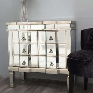 Ashbourne Mirrored Chest of Drawers