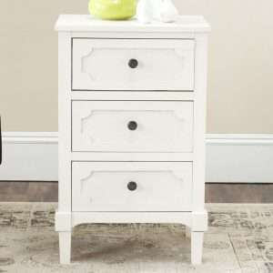 Atlanta White Bedside Table
