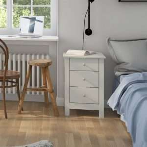 Austin White Bedside Table