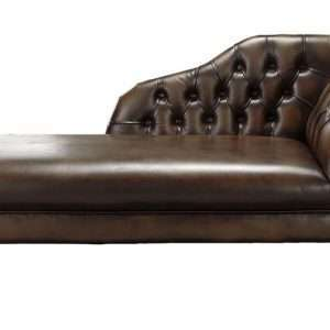 Barloy Antique Genuine Leather Chaise