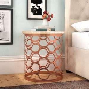 Rose Gold Bedside Table