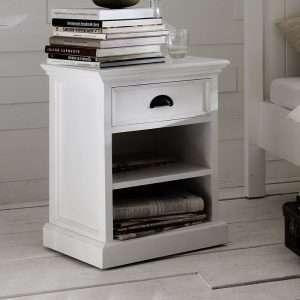 BelleIsle White Bedside Table