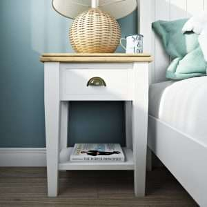 Bellemoor White Bedside Table