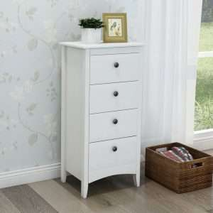Bock 4 Drawer Bedside Table