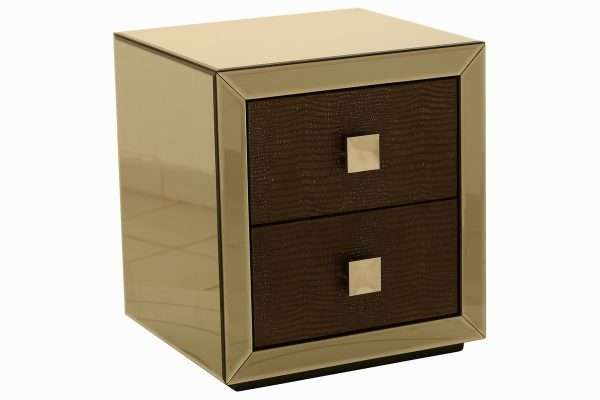 Camilla Mirrored Bedside Table