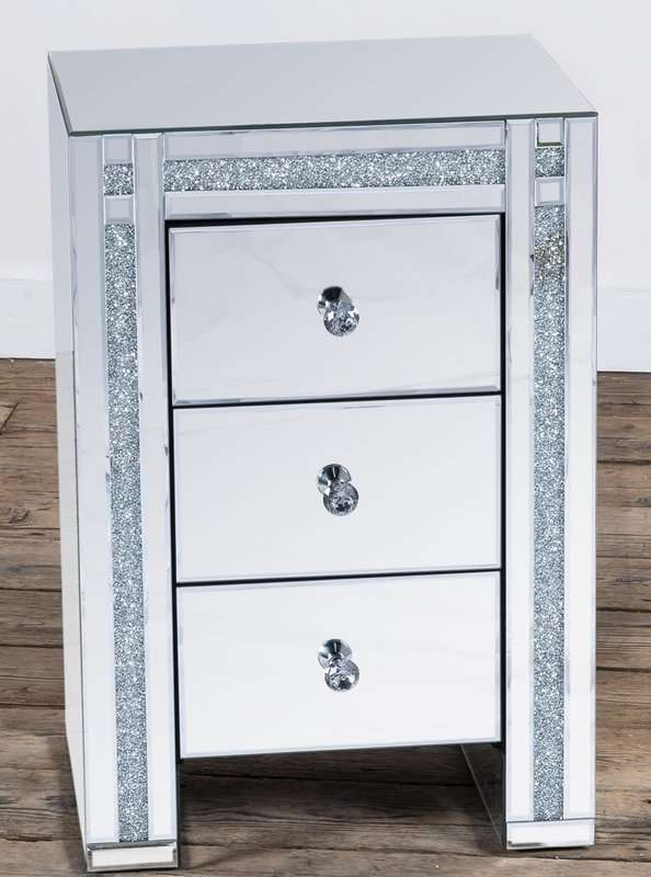 Claude Mirrored Bedside Table