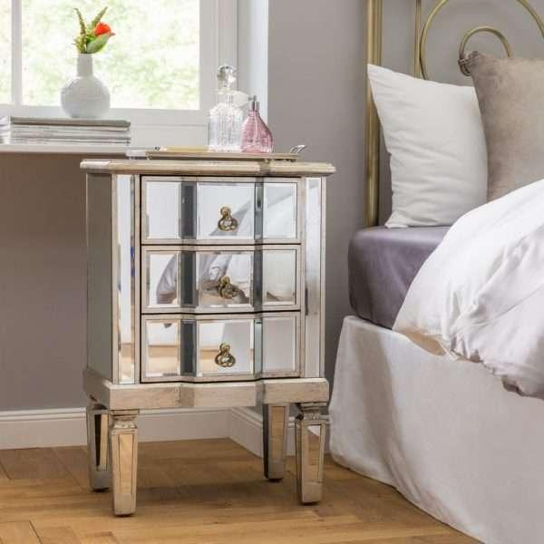 Cleethorpes Mirrored BedsideTable