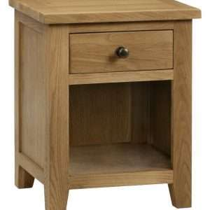 Edith 1 Drawer Bedside Table