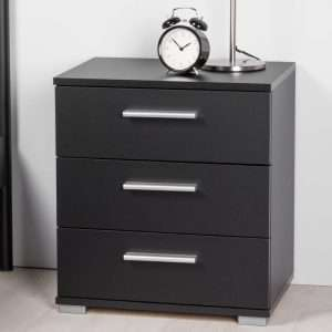 Elora 3 Drawer Bedside Table