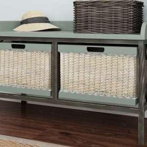 Gainseville Wood Storage Bench