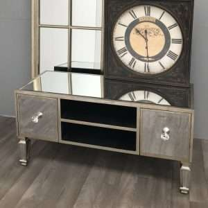 Glam Mirrored TV Unit