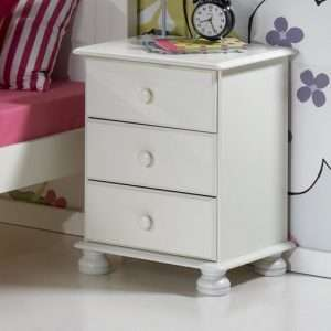Grazierville White Bedside Table