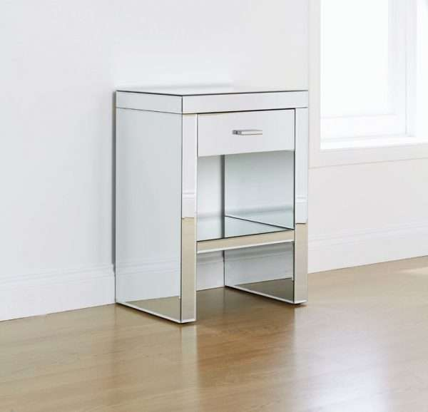 Hector Mirrored Bedside Table