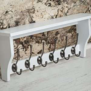 Heritage Shelf 6 Coat Hooks