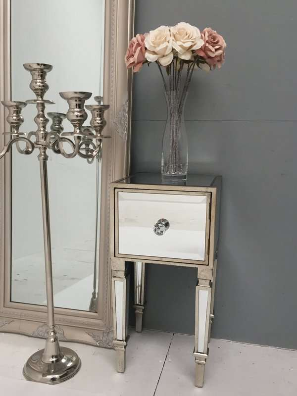 Hollywood Mirrored Bedside Table
