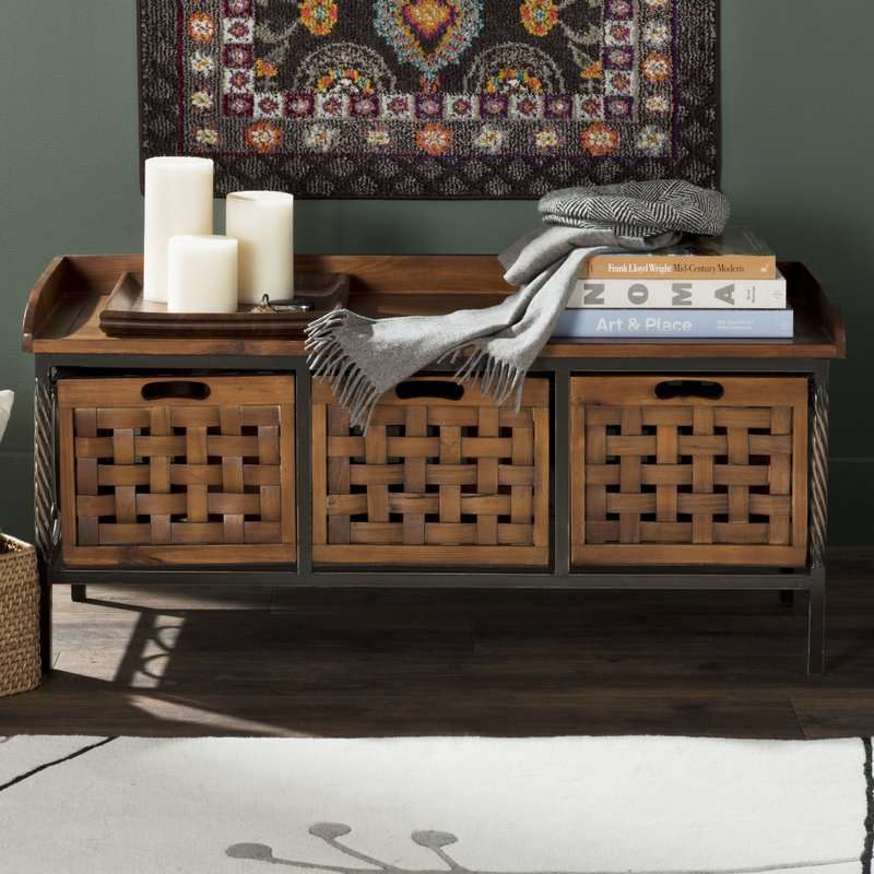 Pleasing Isabella Wood Storage Bench Caraccident5 Cool Chair Designs And Ideas Caraccident5Info