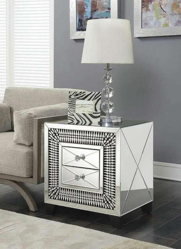 Knaresborough Mirrored Bedside Table