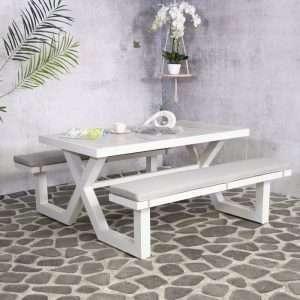 Lanoka Metal Picnic Table
