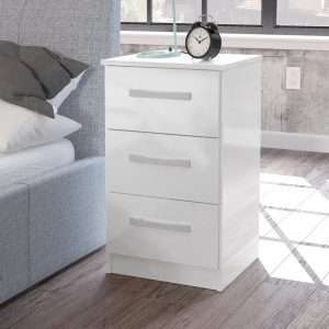 Macy White Bedside Table