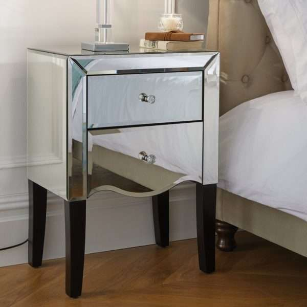 Martin Mirrored Bedside Table