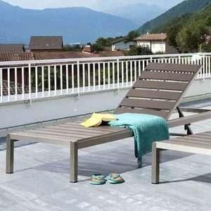 Modern Reclining Sun Lounger
