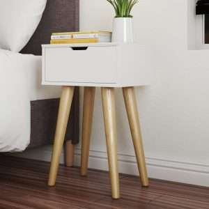 Newman White Bedside Table
