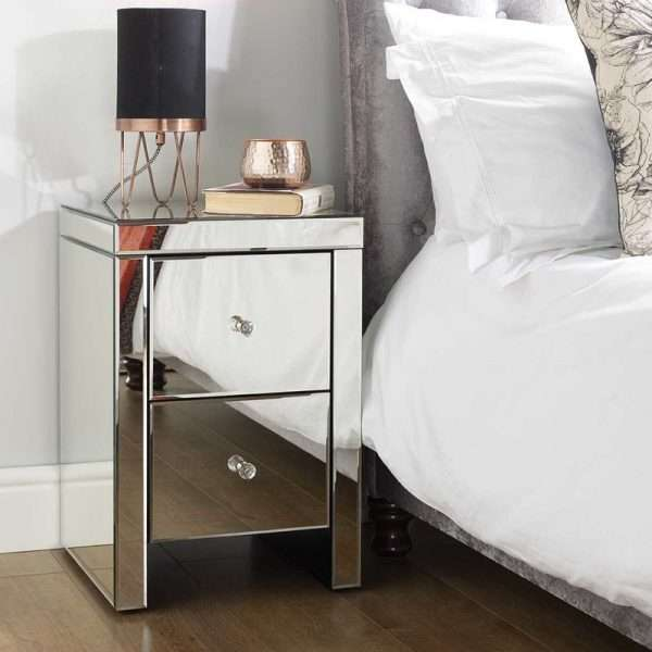 Norman Mirrored Bedside Table