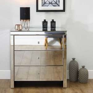 Norman 3 Drawer Mirrored Chest