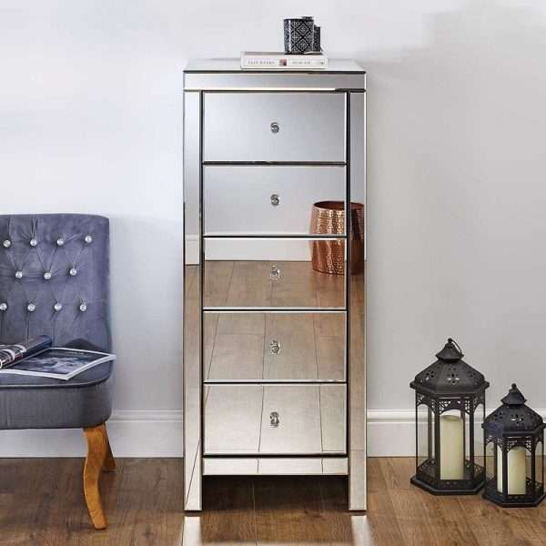 Norman Narrow Mirrored Chest