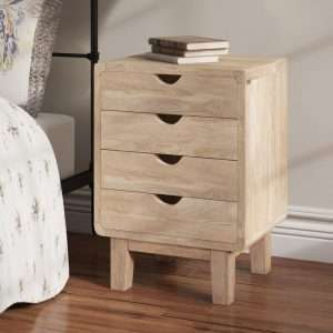 Paquette 4 Drawer Bedside Table