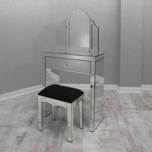 Pineda Mirrored Dressing Table Set