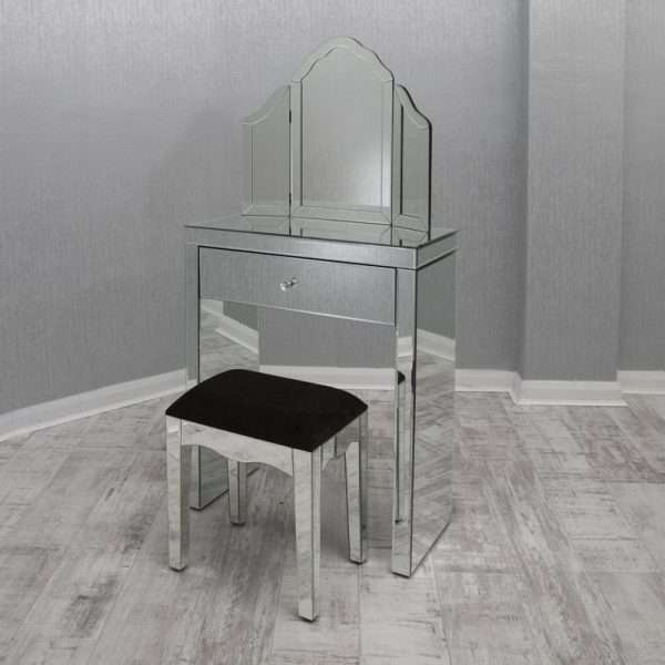 Pineda Mirrored Dressing Table Set