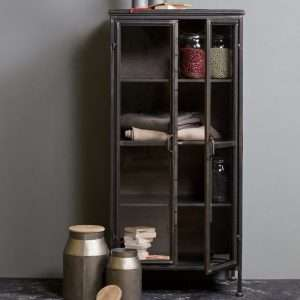 Puristic Metal Display Cabinet