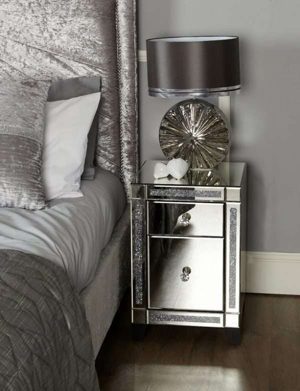 Ramos Mirrored Bedside Table