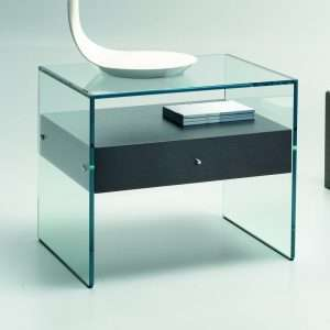 Roffey Glass Bedside Table