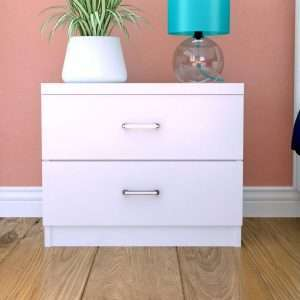 Sidney White Bedside Table